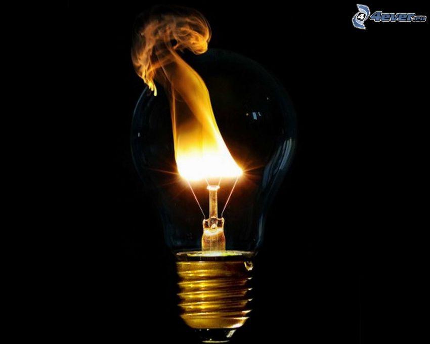 lampadina, fuoco