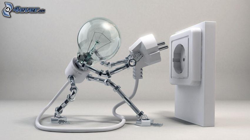 lampadina, presa di corrente