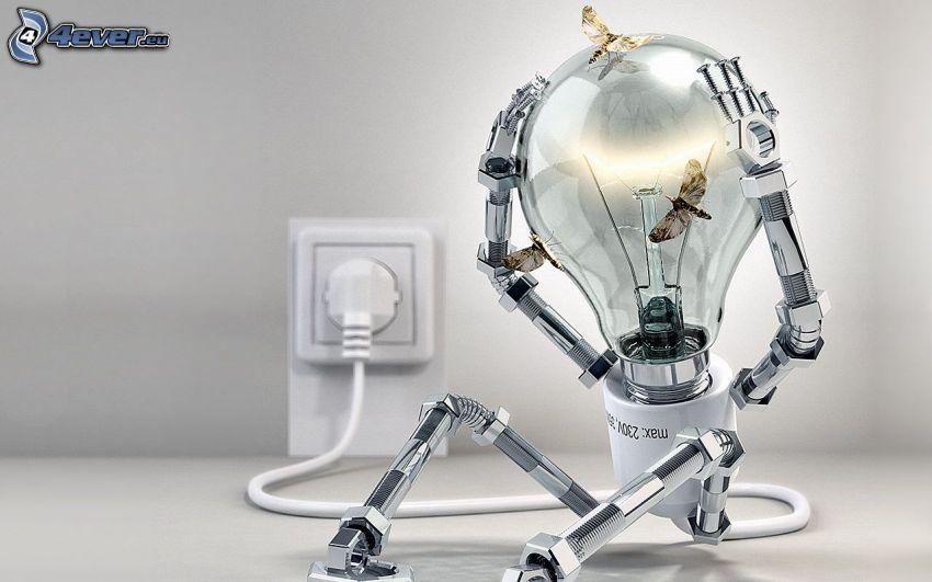 lampadina, robot