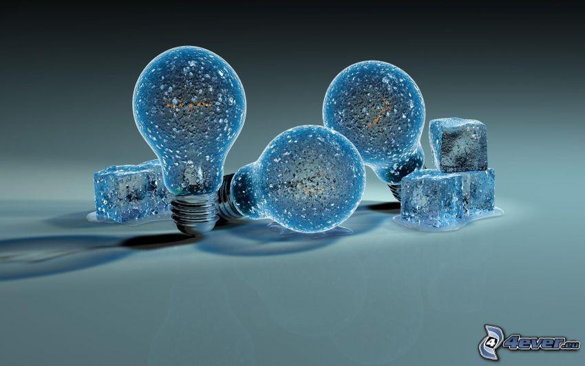 lampadine, ghiaccio