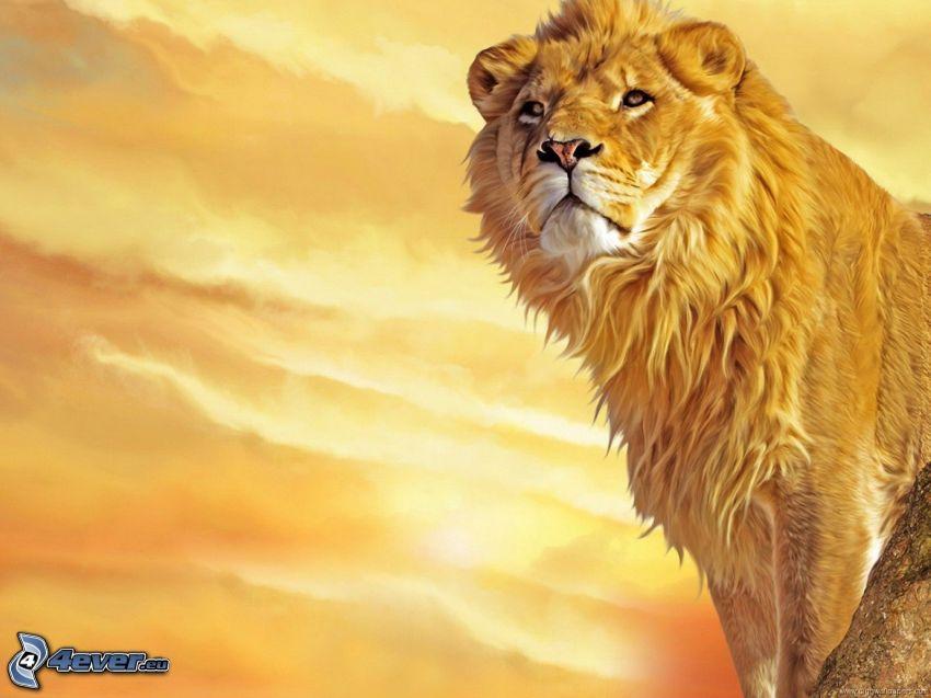 leone disegnato