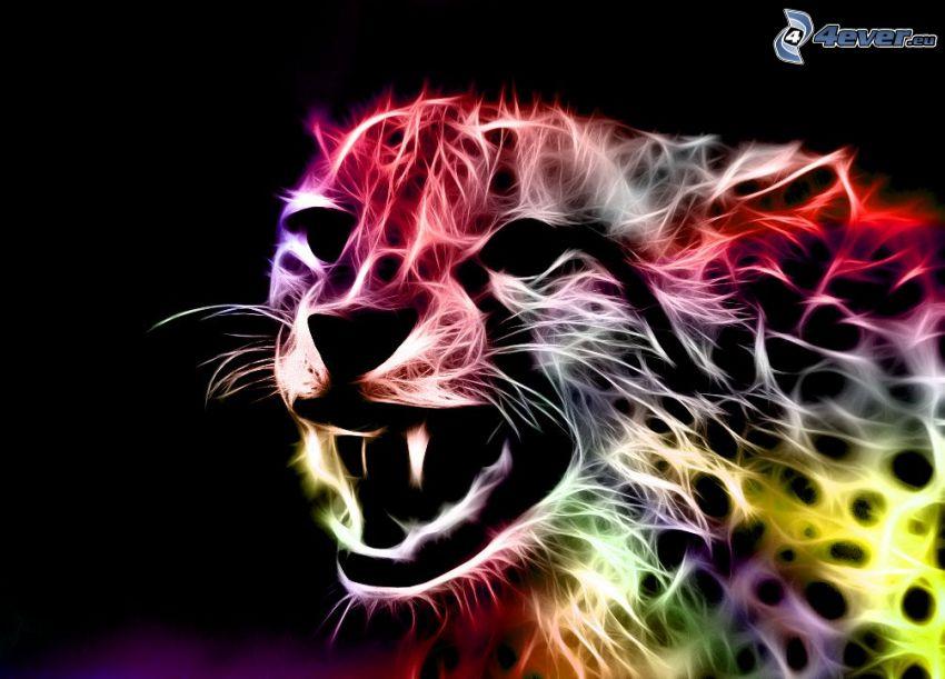 leopardo frattale, urlo
