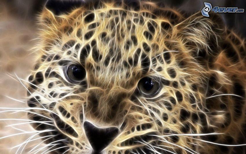 leopardo frattale
