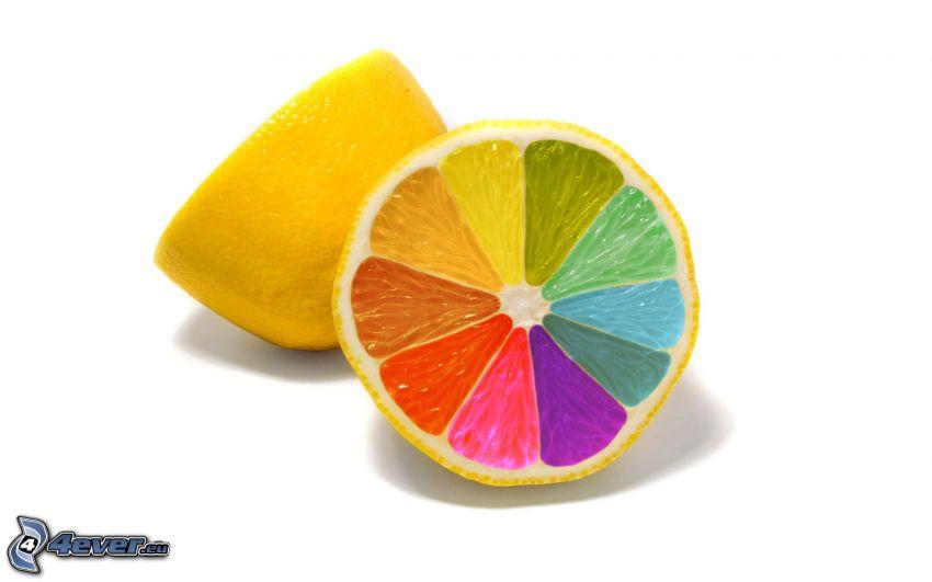 limone, colori di arcobaleno