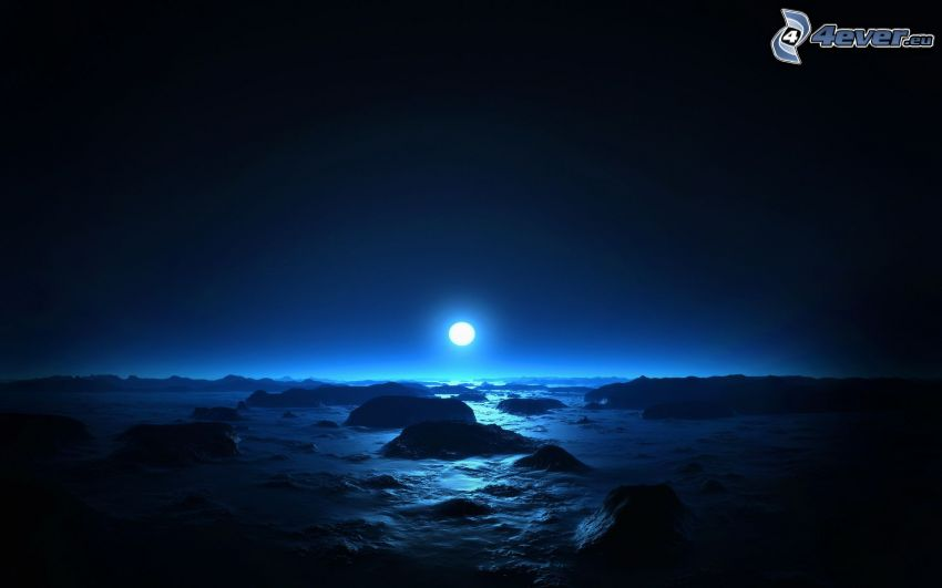 paesaggio digitale, luna
