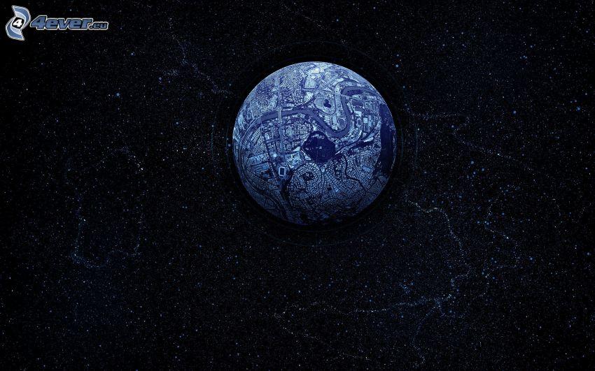 pianeta Terra, universo, stelle