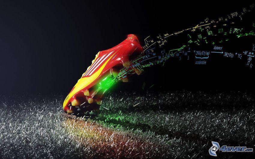 scarpa da calcio, matematica