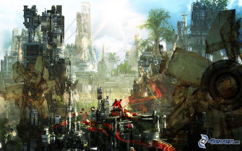 sci-fi città