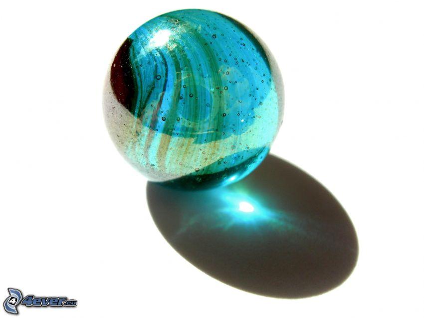 sfera di vetro, ombra
