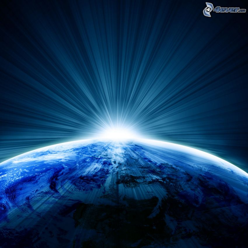 Terra, bagliore, pianeta