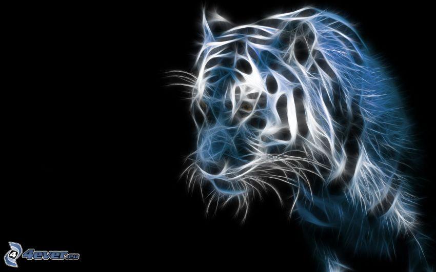 tigre frattale, frattali di animali