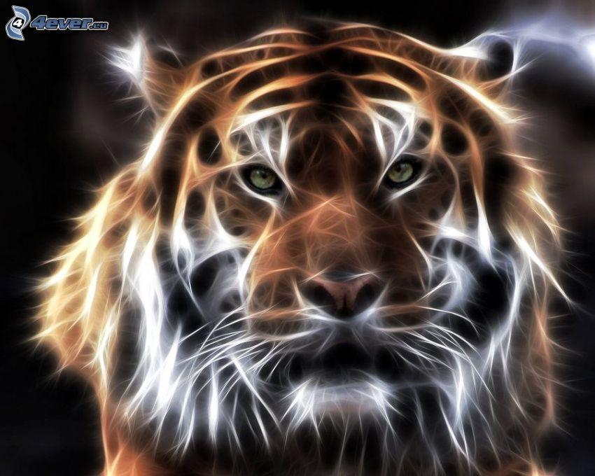tigre frattale