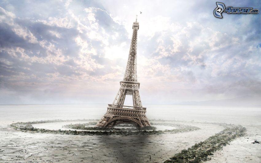 Torre Eiffel, fango, inondazione
