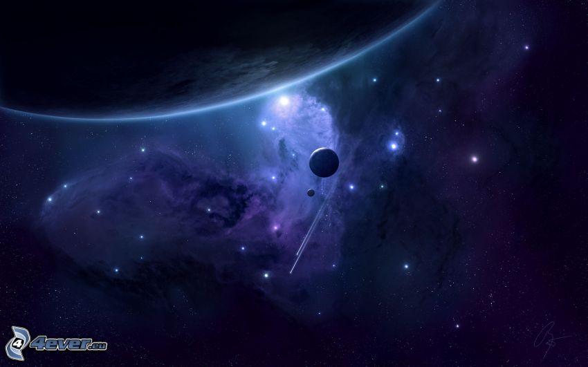 universo, pianeti, nebulosa, stelle