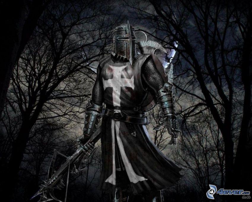 crociato, cavaliere, guerriero