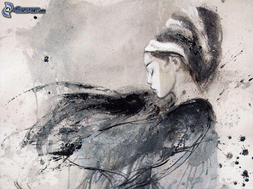 disegno di una ragazza, pittura, Luis Royo, fantasy