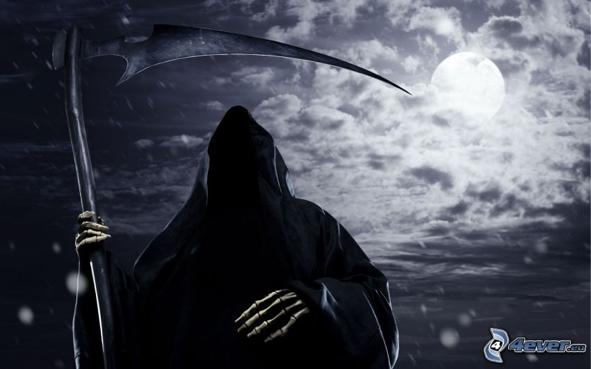 la morte, falce, notte, luna