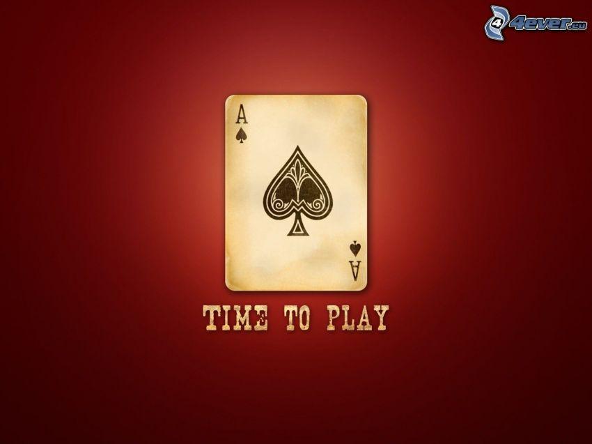 asso, time to play, sfondo rosso