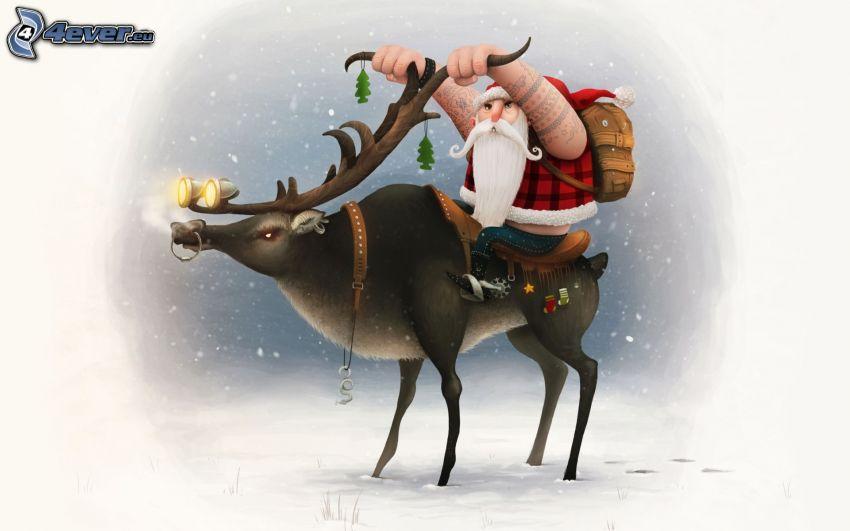 Babbo Natale, renna