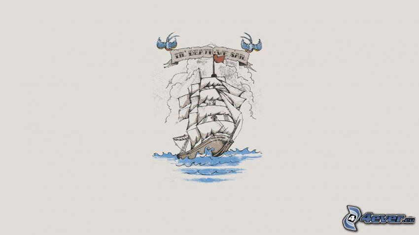 barca a vela disegnata