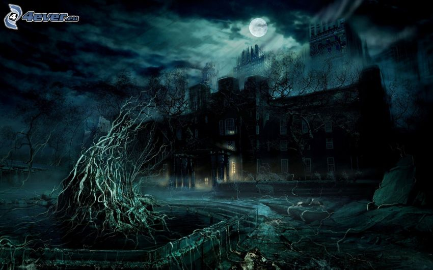 casa di paura, notte