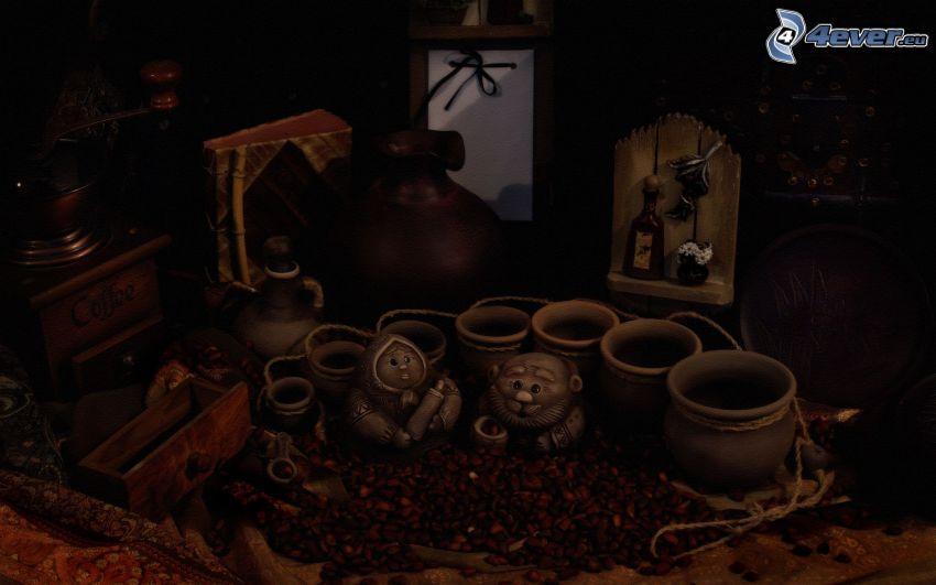ceramica, nonna, nonno