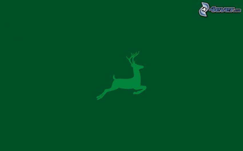cervo, silhouette