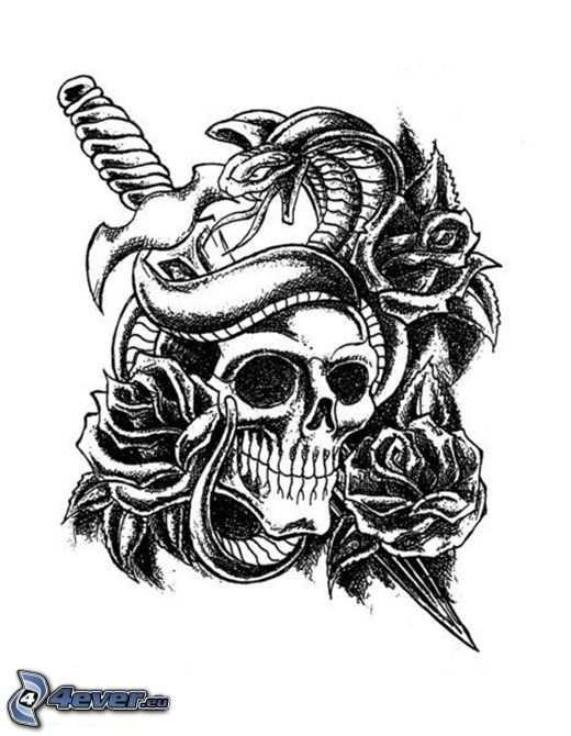 cranio, tatuaggio