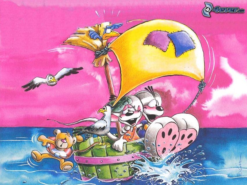 Diddl e Diddlina, canottaggio, barca a vela