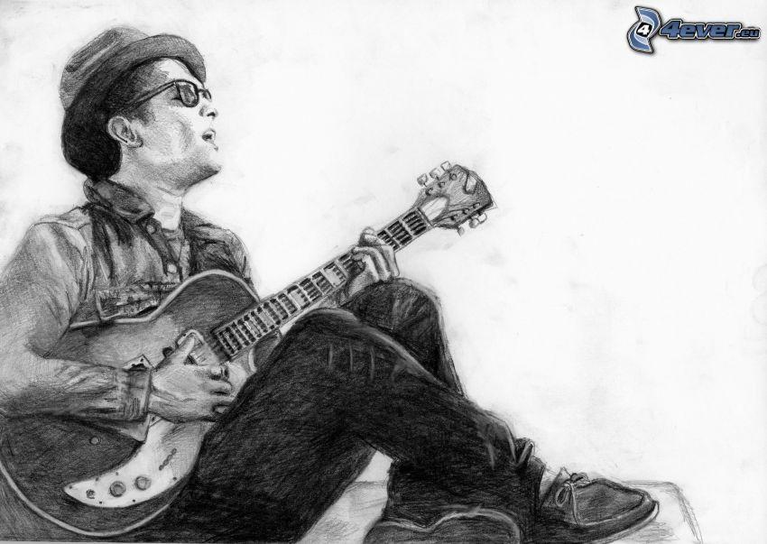 Bruno Mars, chitarra