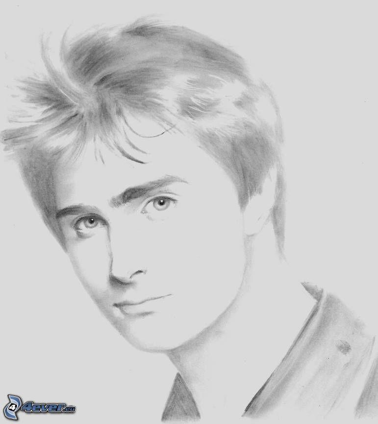 Daniel Radcliffe, disegno, ritratto