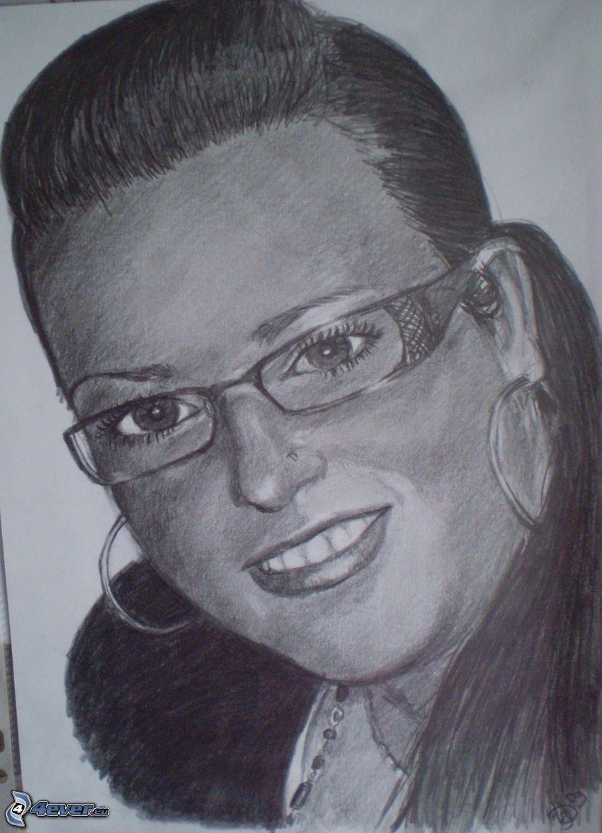 ritratto, disegno di una ragazza