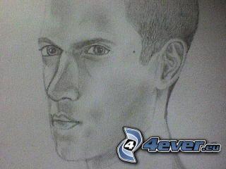 Wentworth Miller, Prison Break, disegno