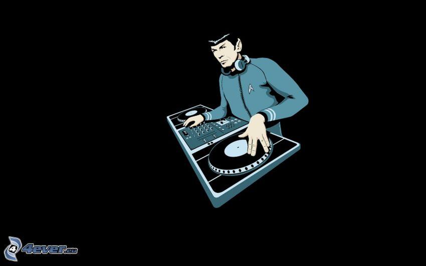 DJ, DJ console, parodia