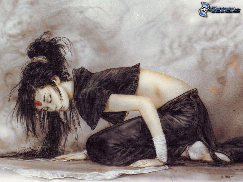 donna cinese, fantasy, Luis Royo