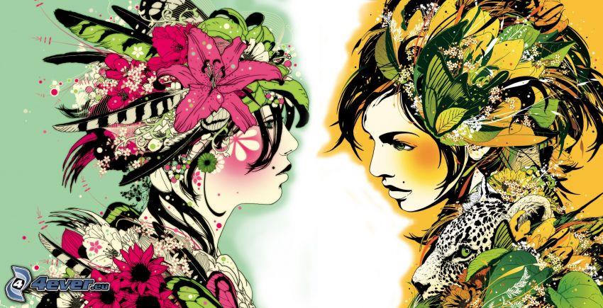 donne disegnate