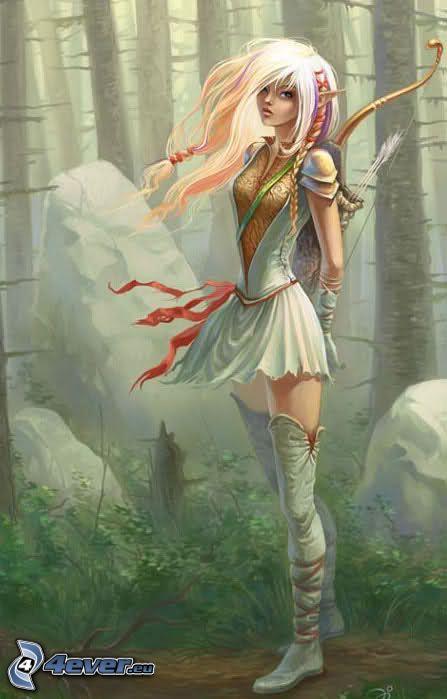 elfa animata, foresta