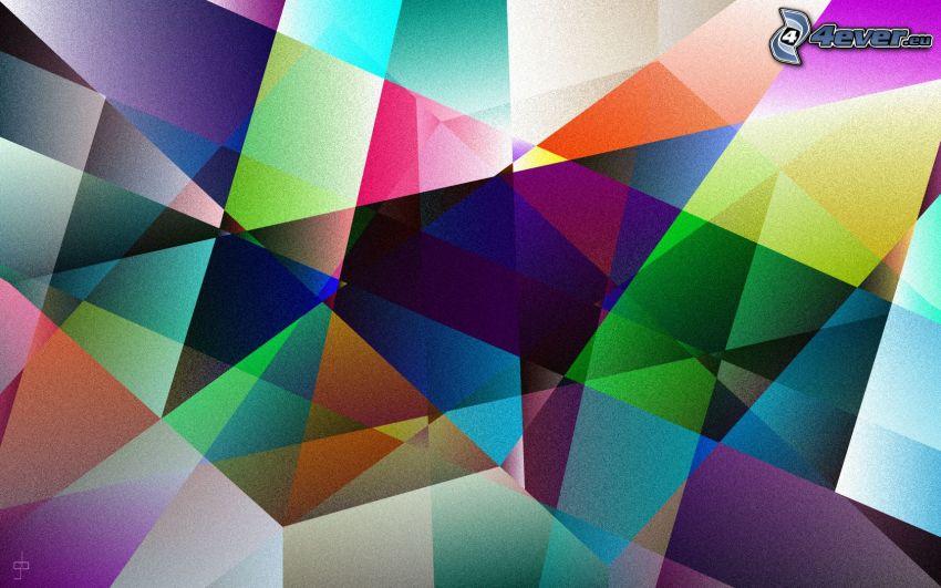 forme astratte, sfondo colorato, triangoli