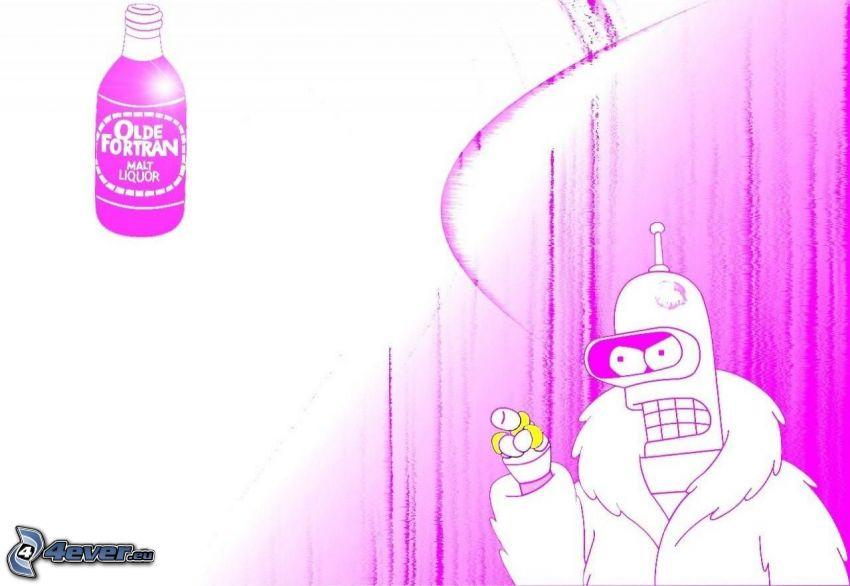 Futurama, figura disegnata, bottiglia