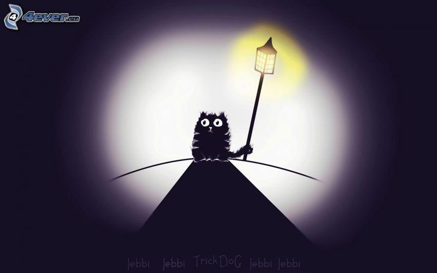 gatto, lampione