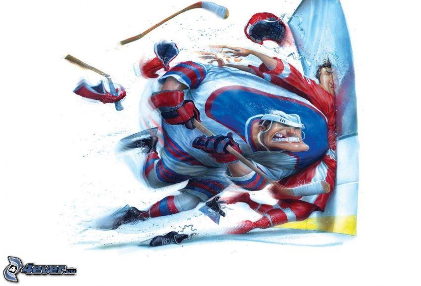 giocatori di hockey, urto