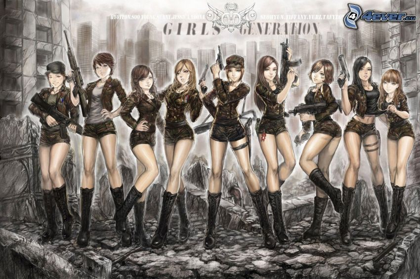 Girls' Generation, donne disegnate