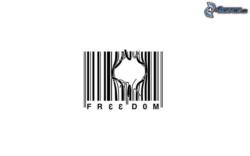 libertà, codice a barre