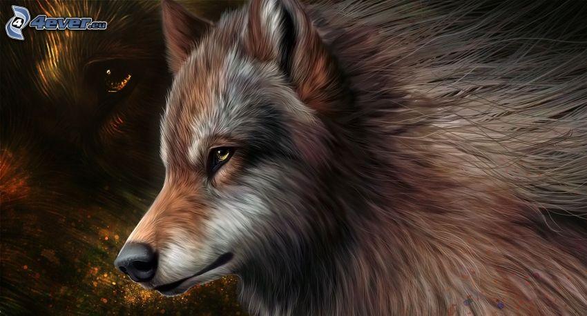 lupo diseganto