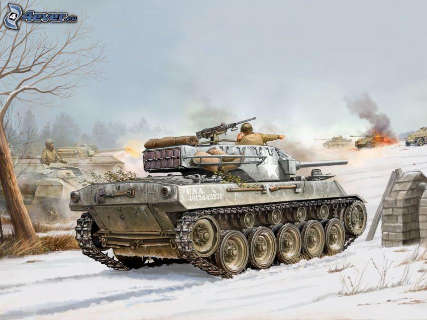 M18 Hellcat, carri armati, battaglia