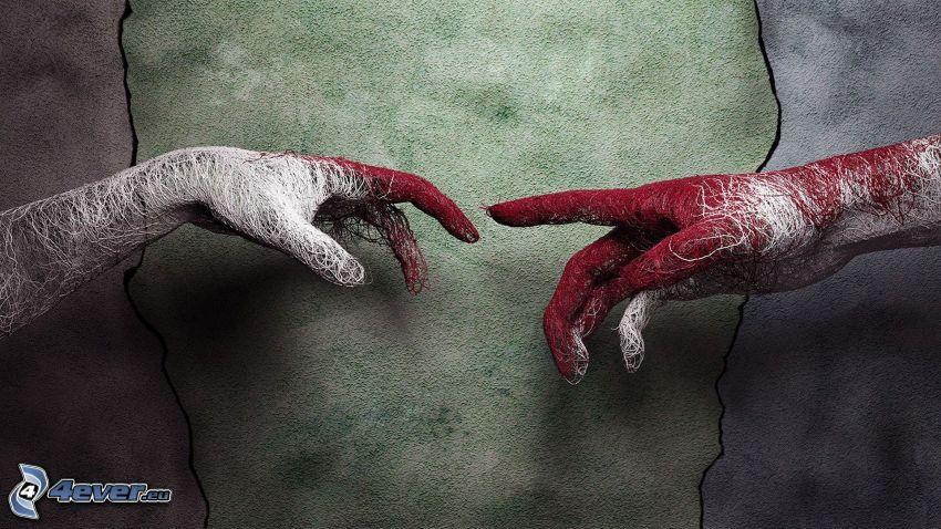 mani, toccare