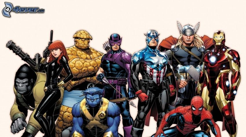Marvel, personaggi dei cartoni animati