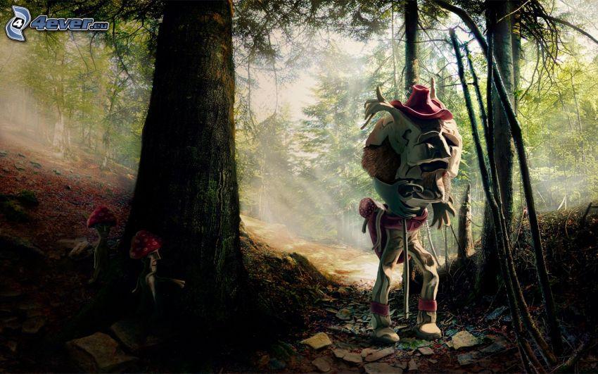 mostro, foresta