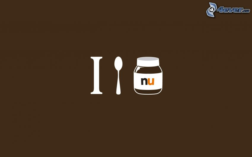 nutella, cucchiaio