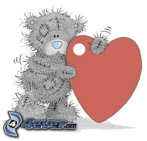 orsacchiotto con cuore